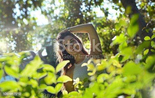 istock Smiling Girl in Park 1051917010