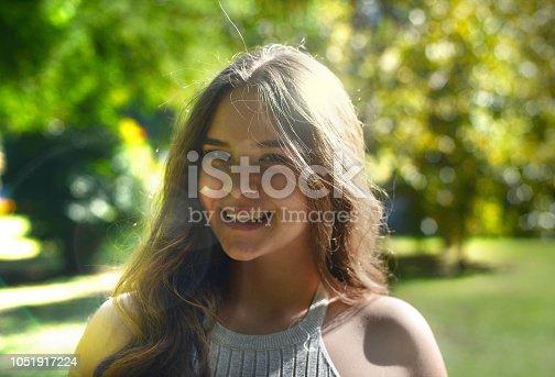 istock Smiling Girl in Park 1051917224