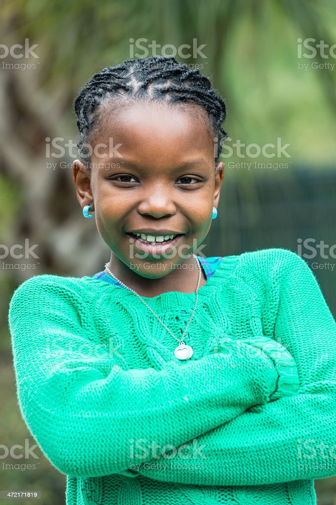 Smiling Girl (8-9 yrs) stock photo