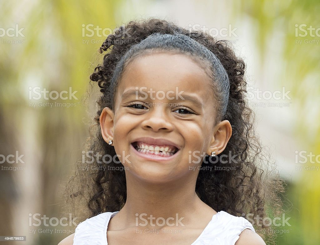 Smiling Girl (6-7 yrs) stock photo
