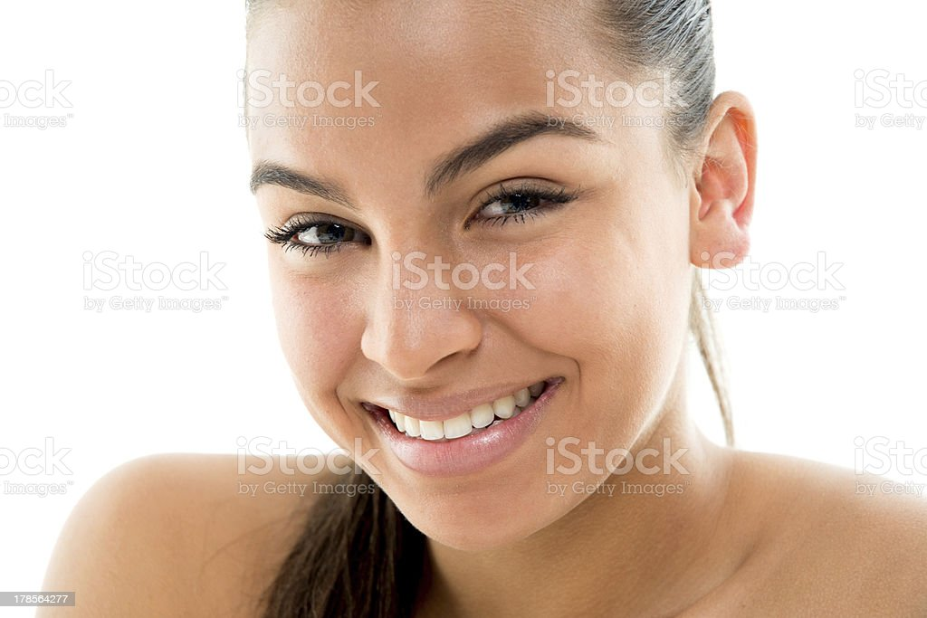 Smiling girl portrait royalty-free stock photo
