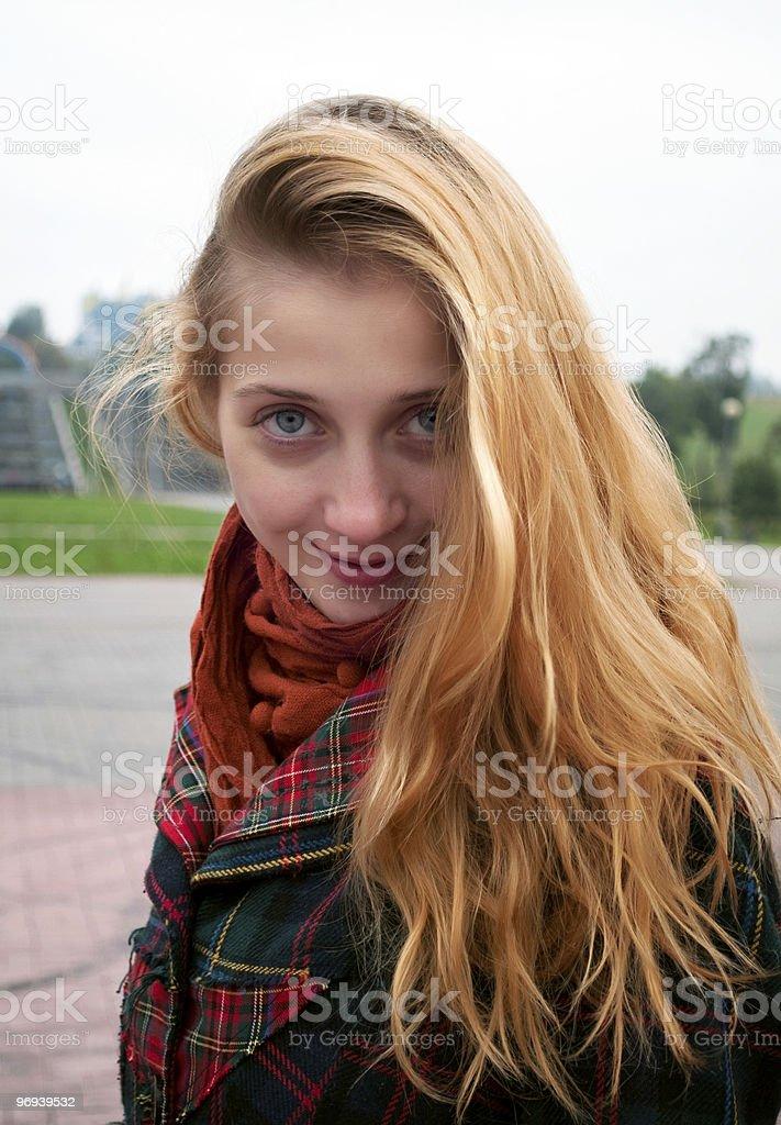 Smiling girl portrait royalty-free stock photo