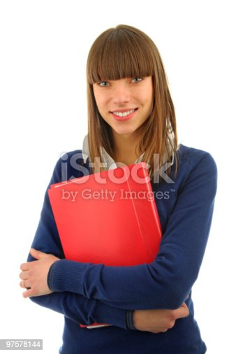 Smiling Girl Portrait Stock Photo & More Pictures of Book