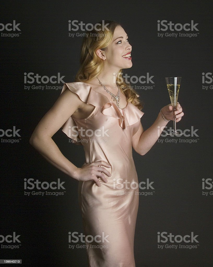 Smiling glamour puss royalty-free stock photo