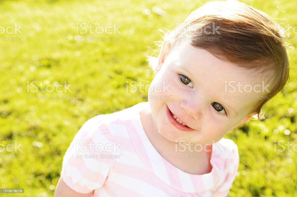 Smiling Glance royalty-free stock photo