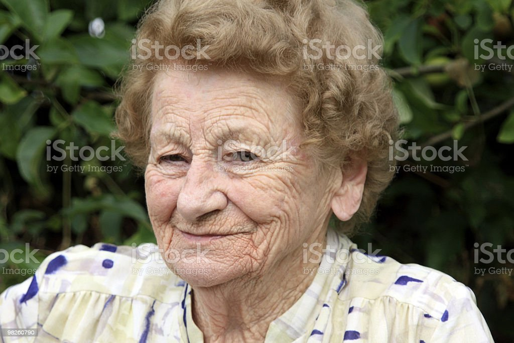 Smiling Granny royalty-free stock photo