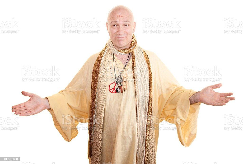 Smiling Guru stock photo