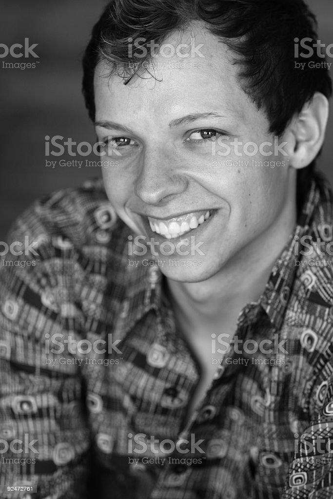Smiling guy royalty-free stock photo