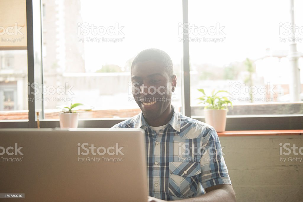 Smiling handsome business man royalty-free stock photo