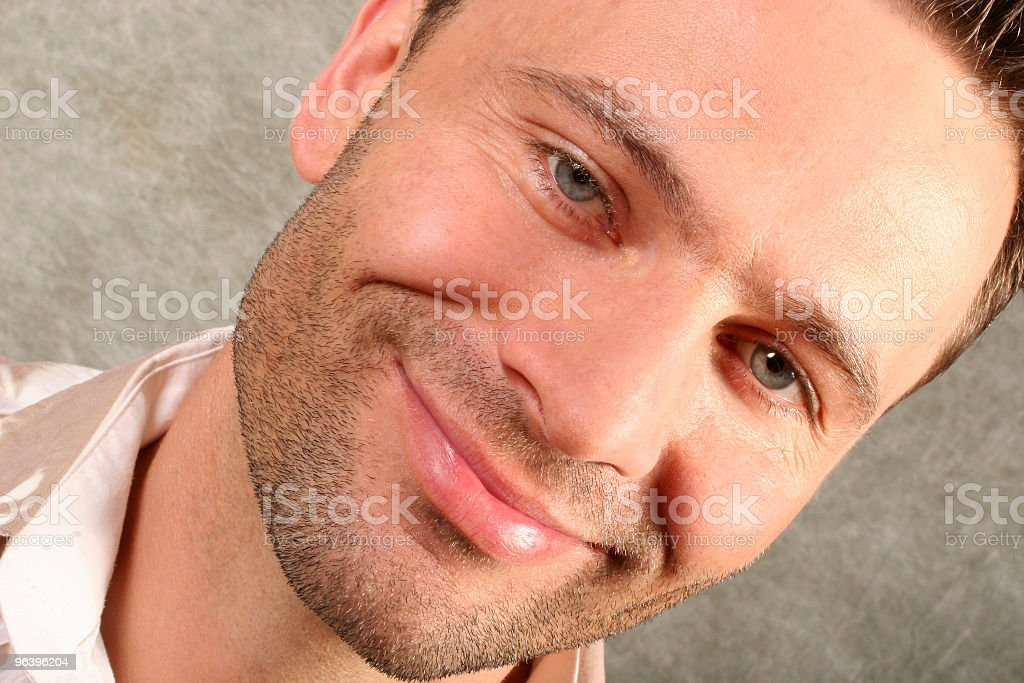 smiling handsome man - close up 2 - Royalty-free Actor Stock Photo