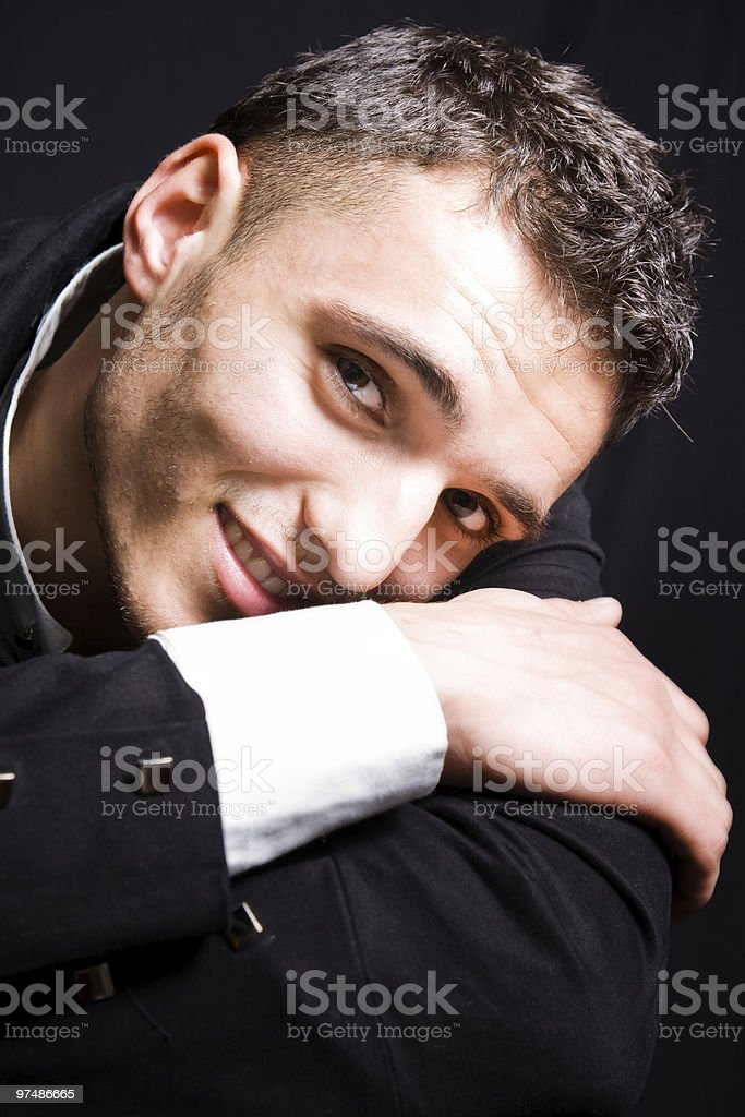 Smiling handsome man royalty-free stock photo