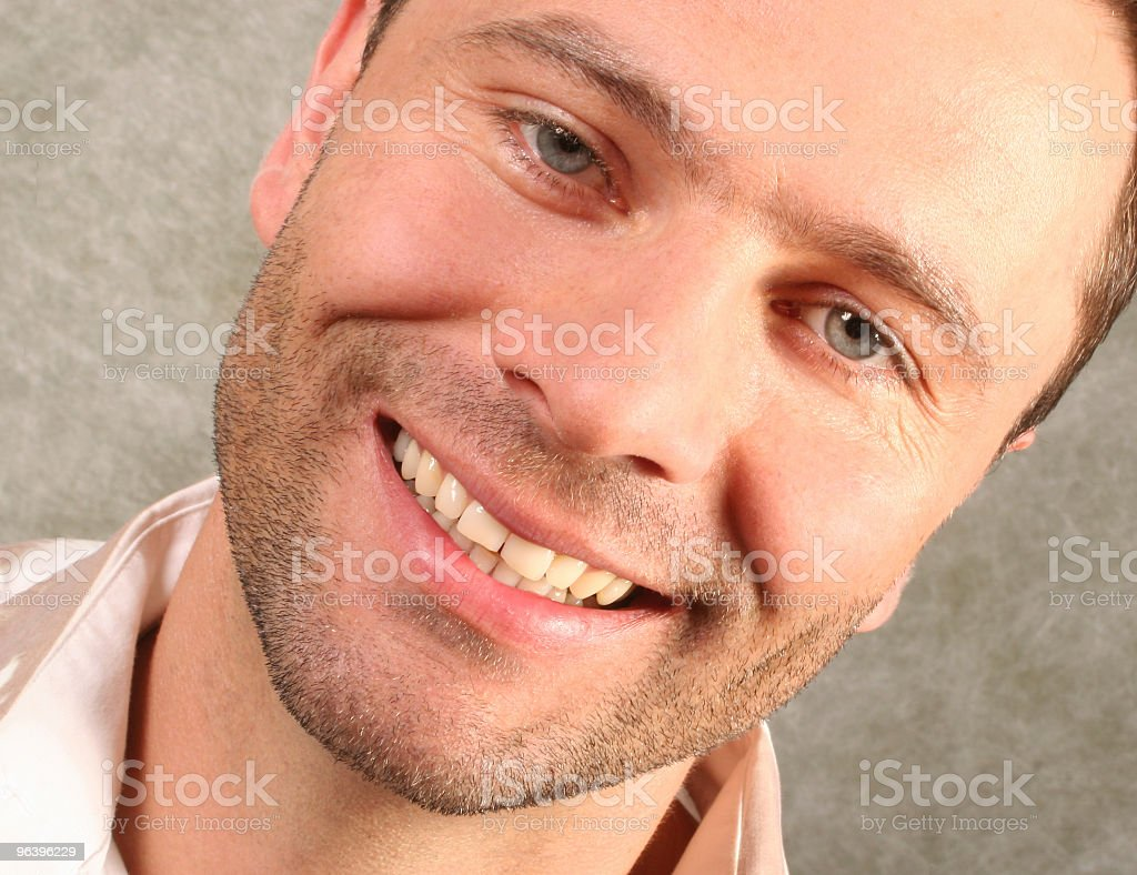 smiling handsome man portrait - Royalty-free Actor Stock Photo