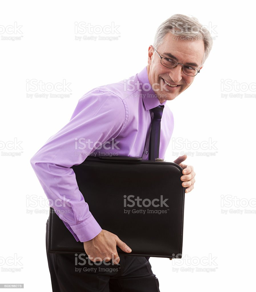 Smiling happy businessman stock photo
