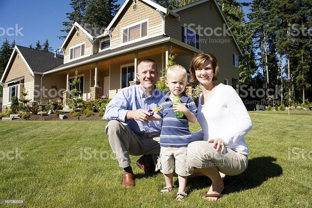 Smiling happy family royalty-free stock photo