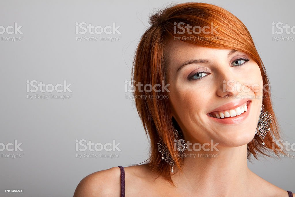 Smiling, Happy Woman stock photo