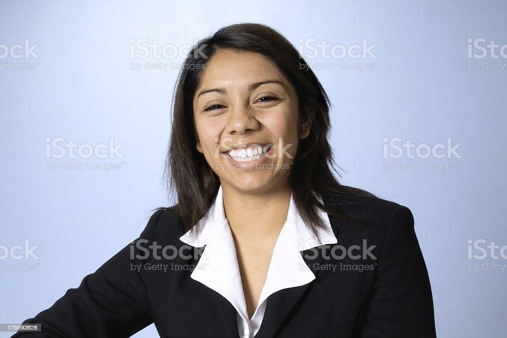 Smiling Happy Young Hispanic Businesswoman royalty-free stock photo