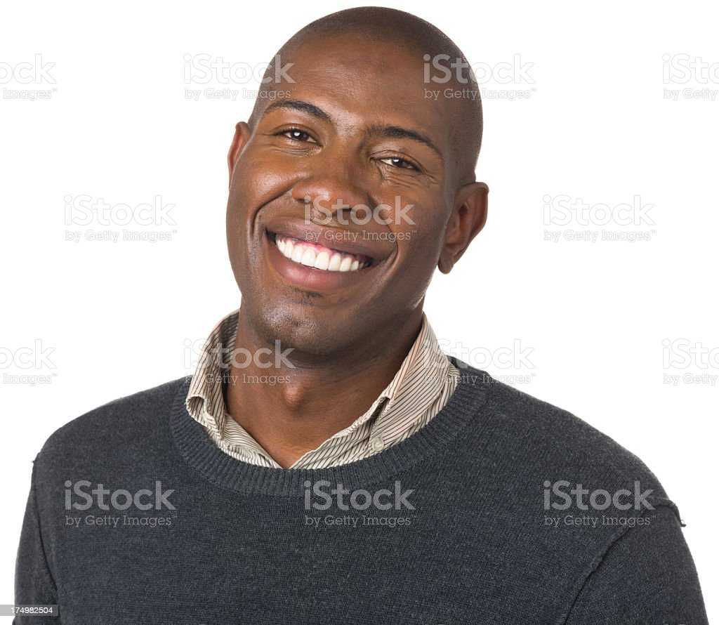 Smiling Happy Young Man Portrait royalty-free stock photo
