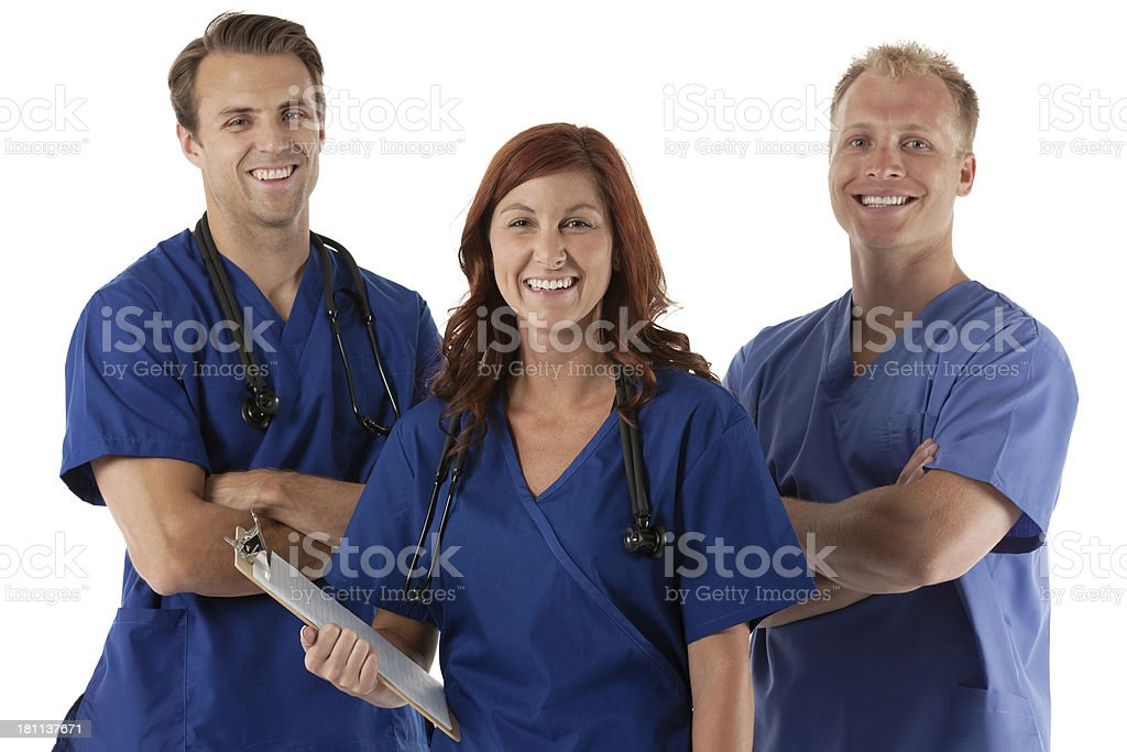 Smiling healthcare professionals royalty-free stock photo