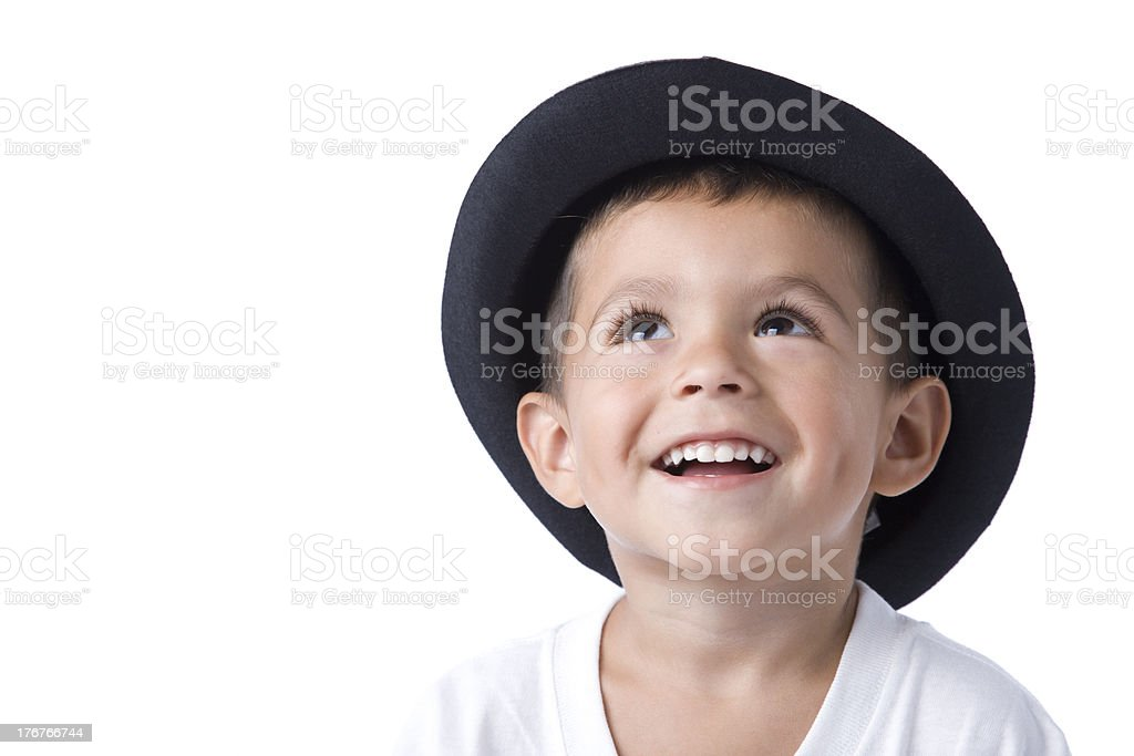 Smiling Hispanic Boy With Hat and Dimples royalty-free stock photo