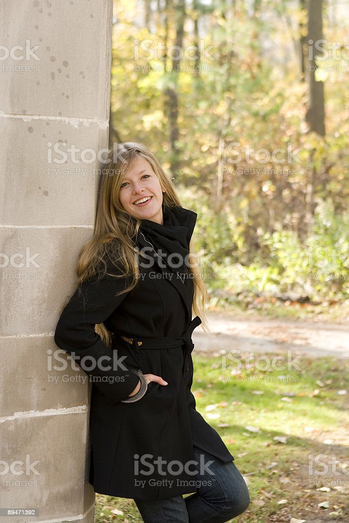 Lächeln im park Lizenzfreies stock-foto