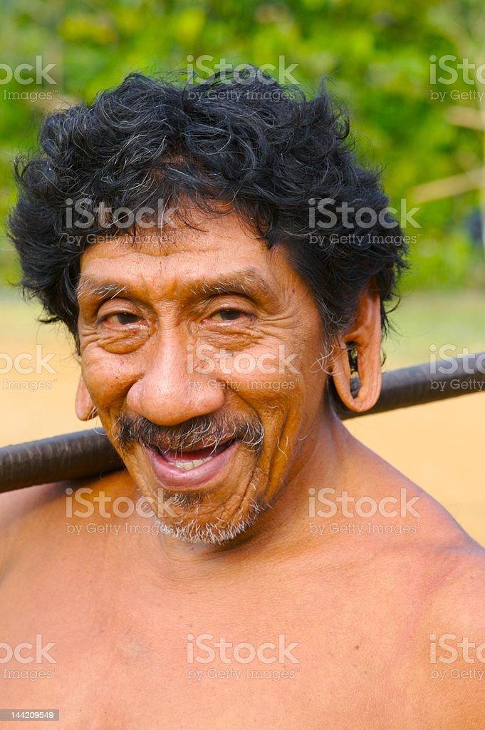Smiling indian man stock photo
