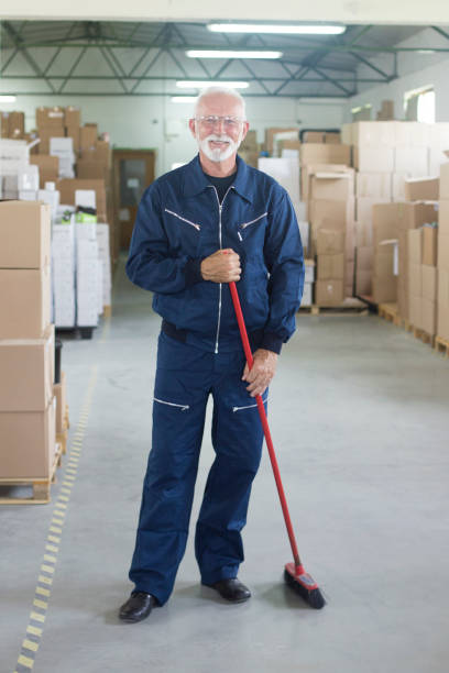 smiling janitor - custodian stock pictures, royalty-free photos & images