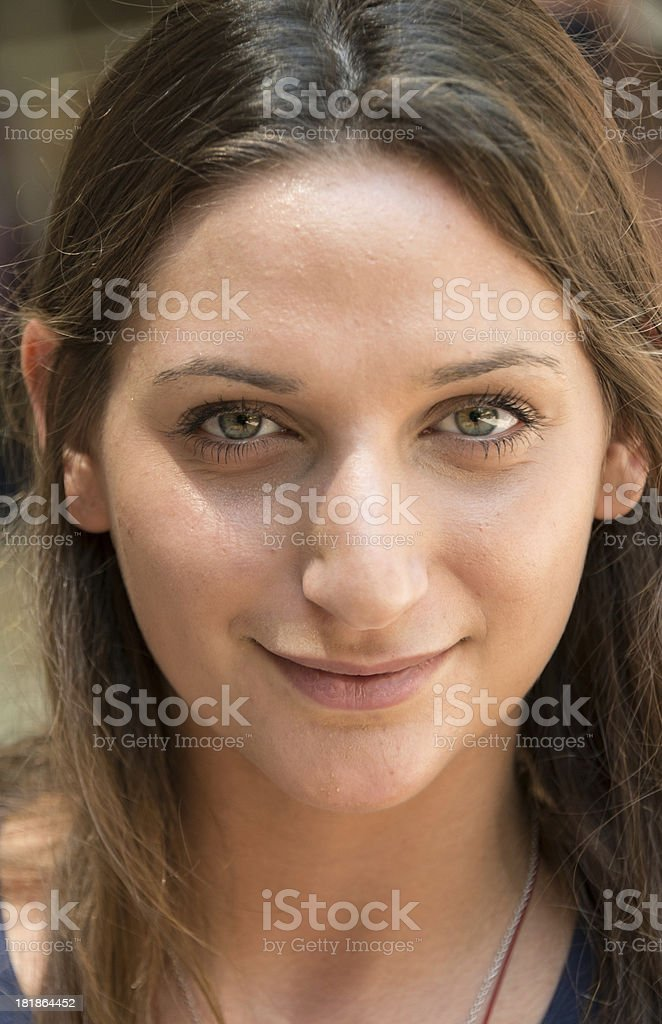 Smiling jewish young woman royalty-free stock photo