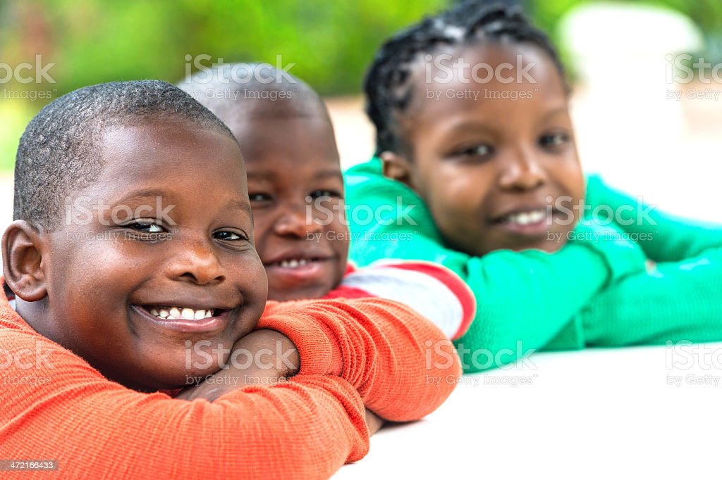 Smiling kids royalty-free stock photo