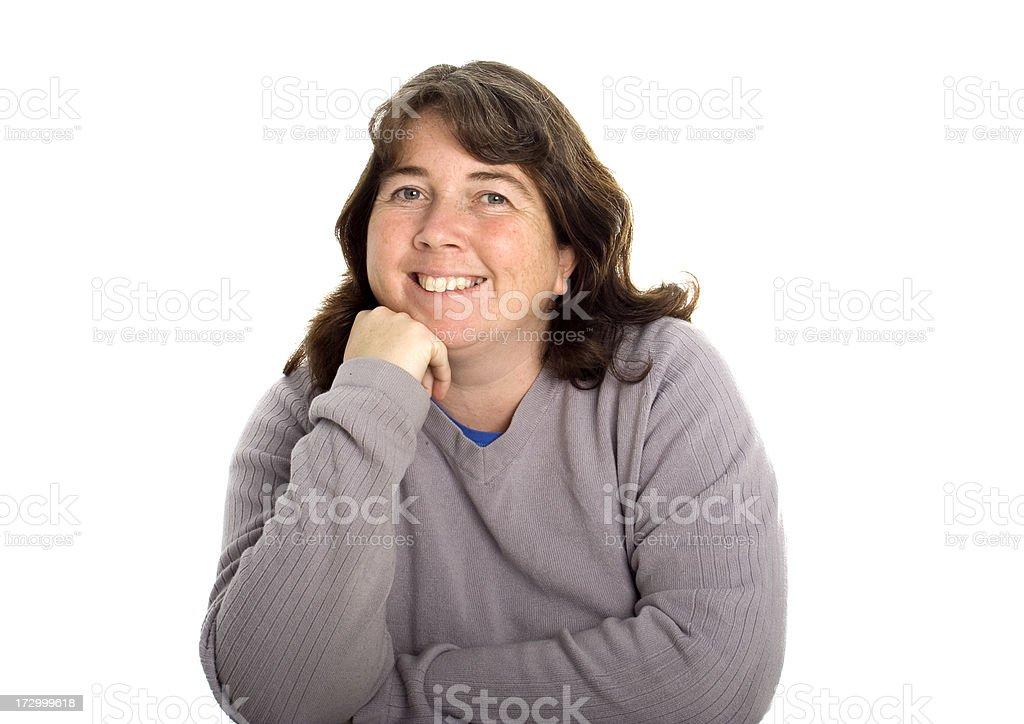 Smiling Lady royalty-free stock photo