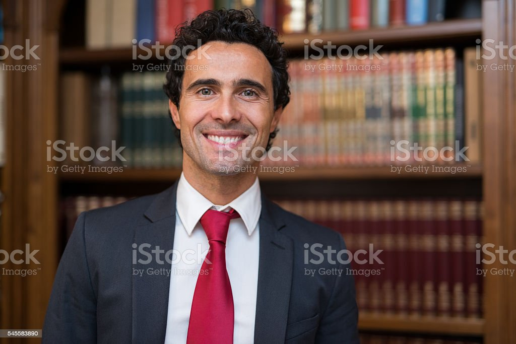 Smiling lawyer portrait stock photo