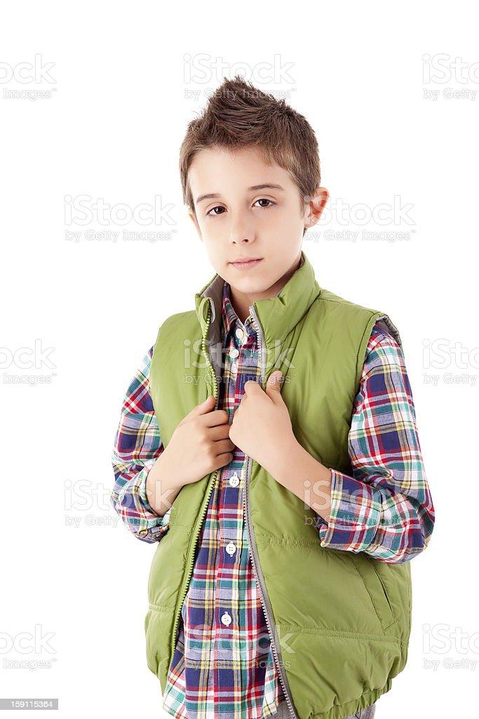 Smiling little boy posing royalty-free stock photo
