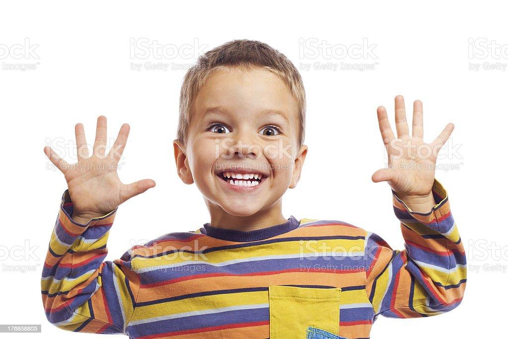 Smiling little children stock photo