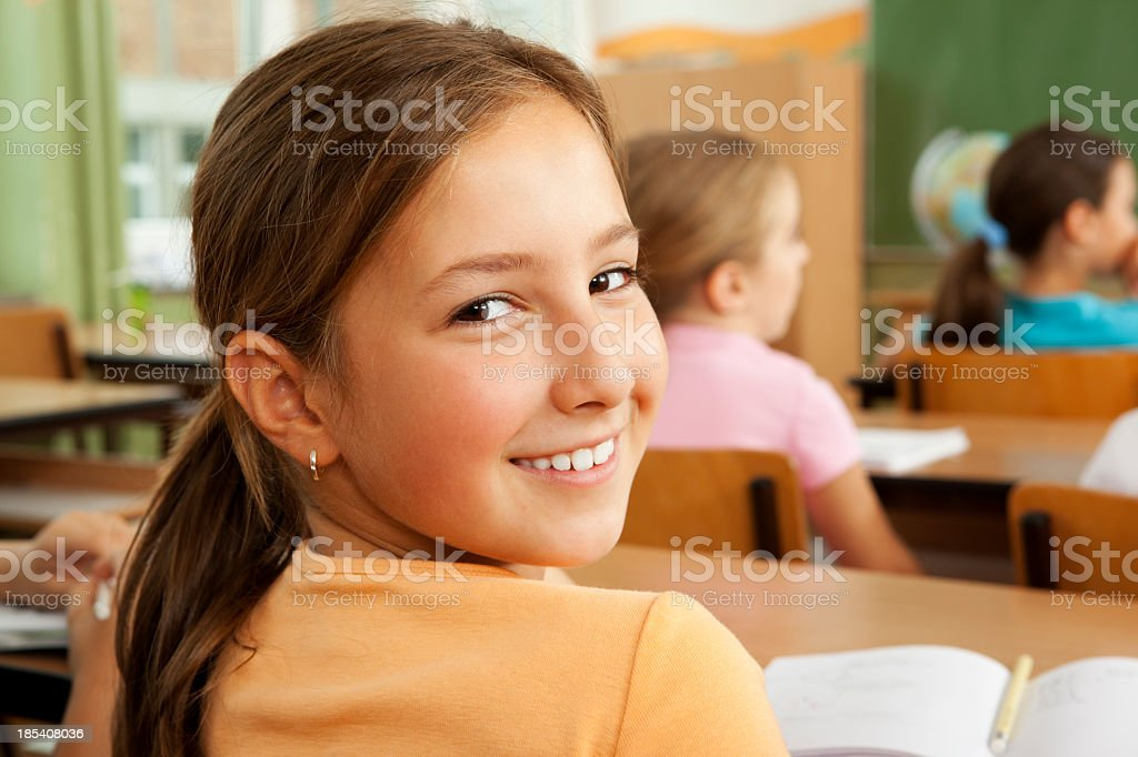 Smiling Little Girl at school royalty-free stock photo