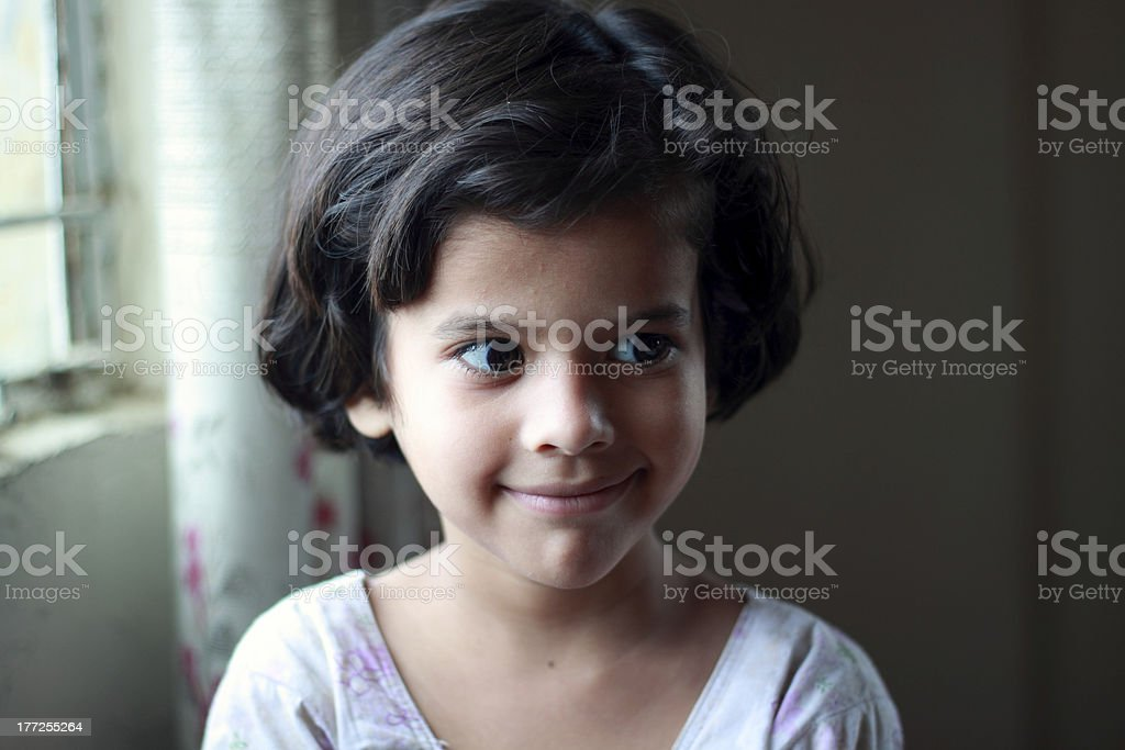 Smiling little girl close-up royalty-free stock photo