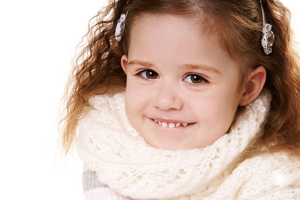 Smiling little girl stock photo