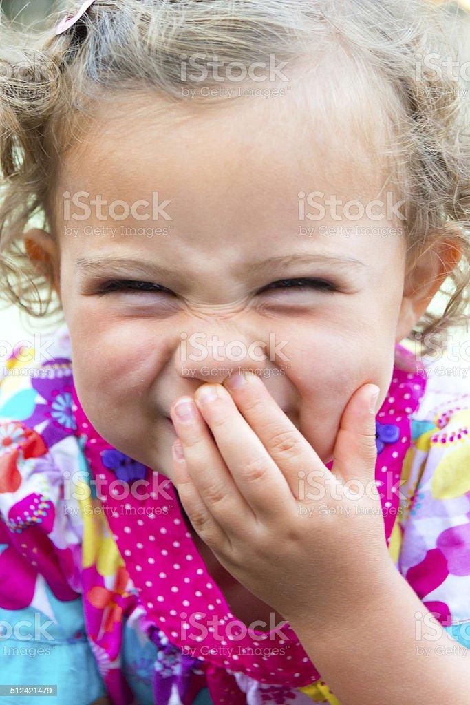 Lächeln kleine Mädchen – Foto