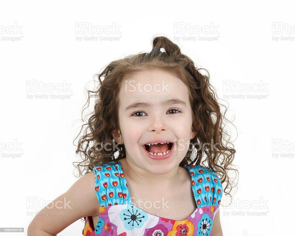 Sonriente niña foto de stock libre de derechos