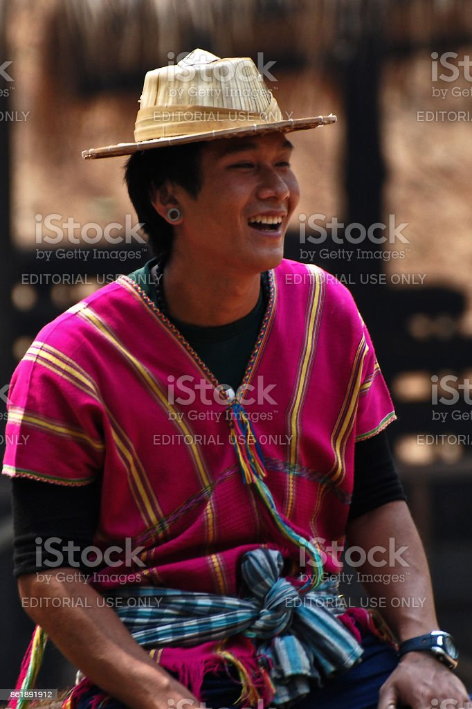 Smiling mahout stock photo
