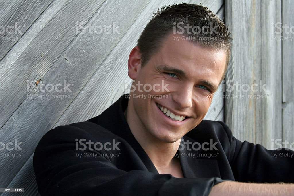 Smiling - Male Portrait royalty-free stock photo