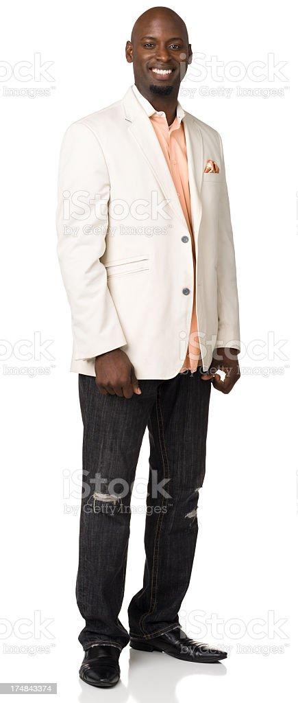 Smiling Man Full Length Portrait royalty-free stock photo