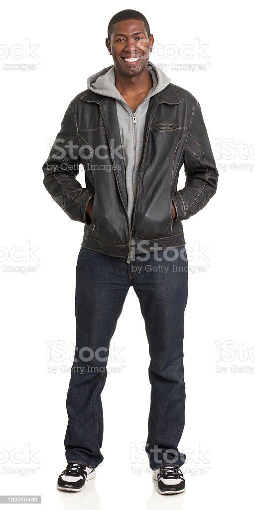 Smiling Man Full Length Portrait stock photo