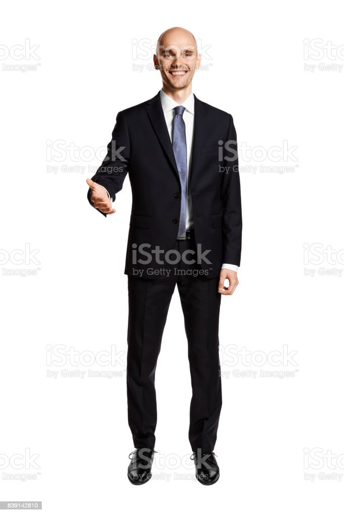Smiling Man Greets You stock photo