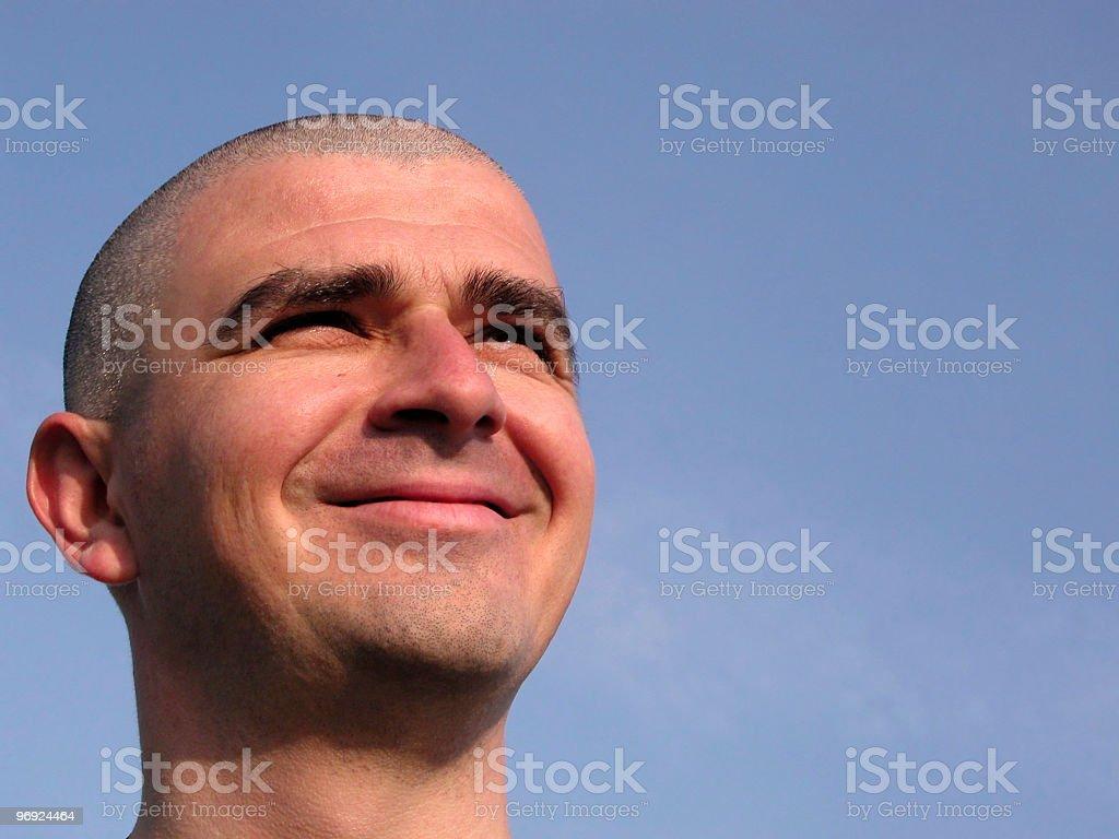 Smiling man head royalty-free stock photo