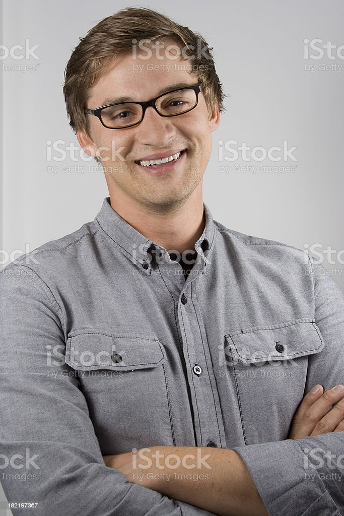 Smiling Man in Glasses royalty-free stock photo