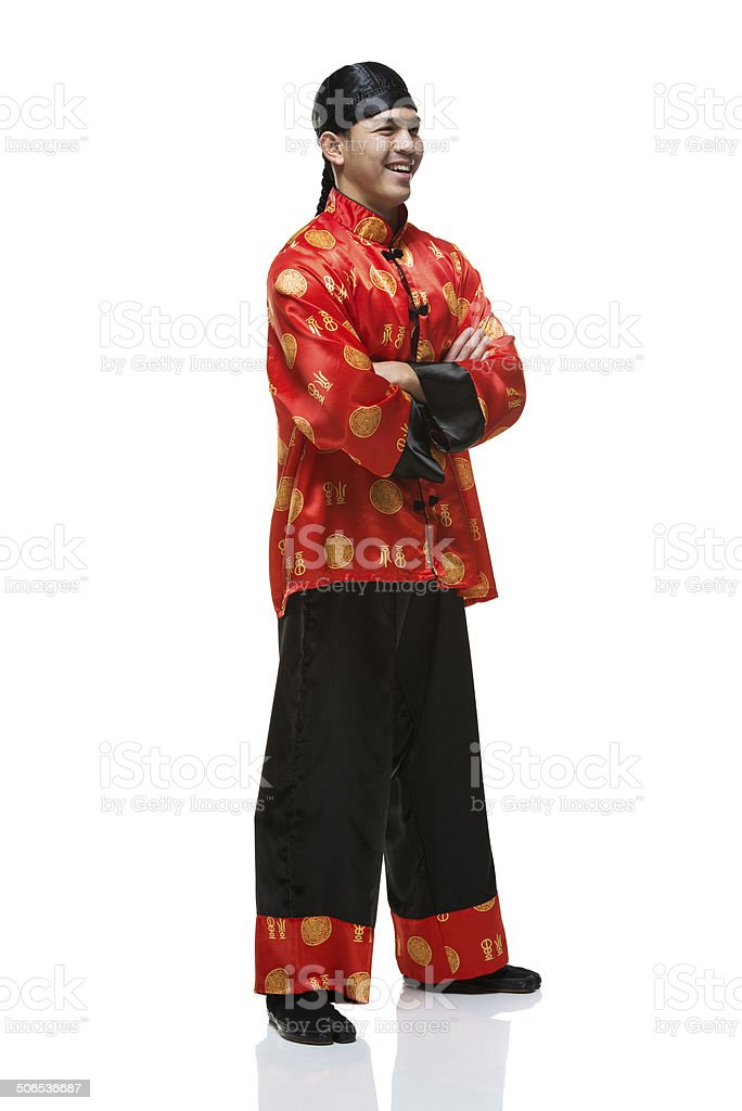 Homme Souriant En Chinois Traditionnel Des Vetements Photos Et