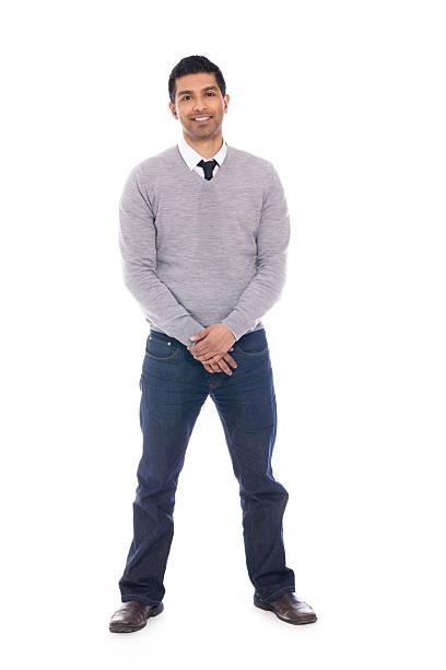 Smiling Man Isolated on White Background - Full Body stock photo