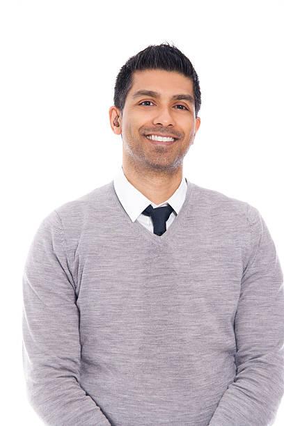 Smiling Man Isolated on White Background stock photo