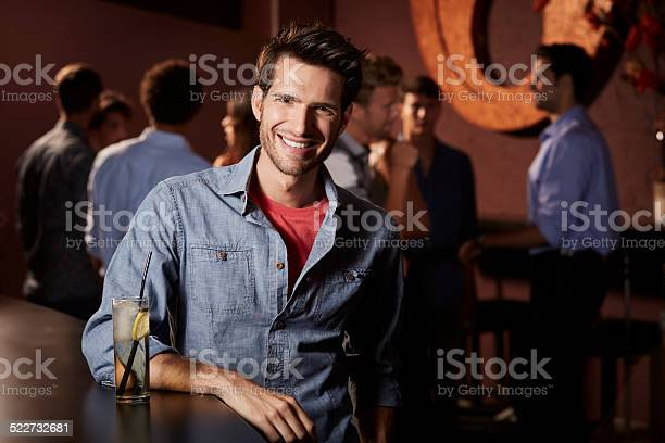Smiling man leaning on counter in nightclub picture id522732681?b=1&k=6&m=522732681&s=612x612&h=mjbh8fsytey3gt4iayouooeb125160tmaso dljrcn0=