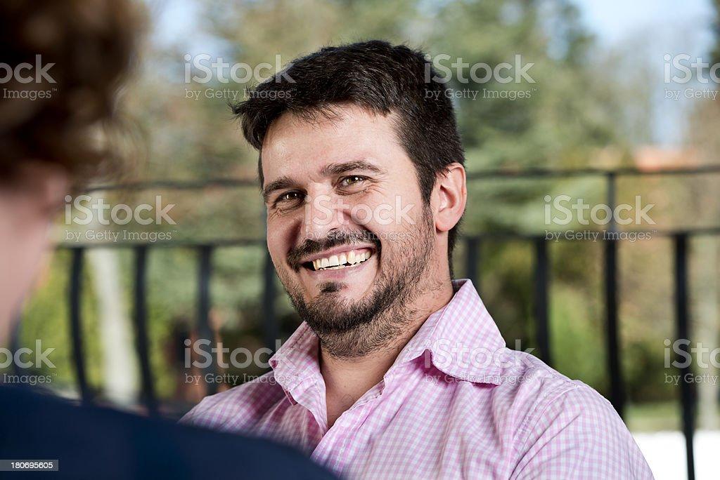 Smiling Man stock photo