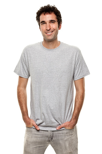Smiling Man Posing With Hands In Pockets Stock Photo - Download Image Now
